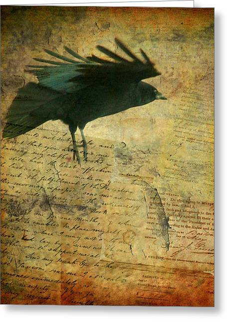 American Crow Greeting Cards - For The Ages Greeting Card by Gothicolors Donna Snyder