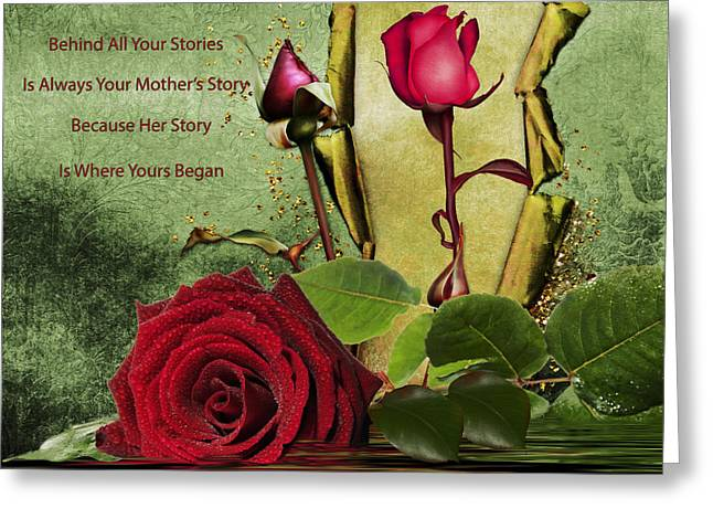 Romance Mixed Media Greeting Cards - For The Beauty Of Her Greeting Card by Georgiana Romanovna