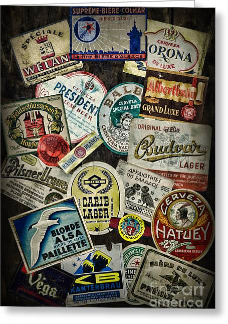 Label Greeting Cards - For the Beer Drinker Greeting Card by Paul Ward