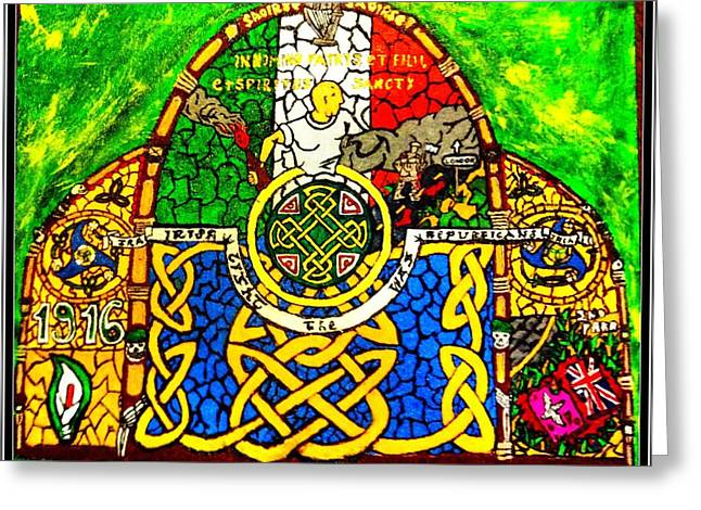 Celtic Knotwork Greeting Cards - For the families of Irish POWs Greeting Card by Brett Genda