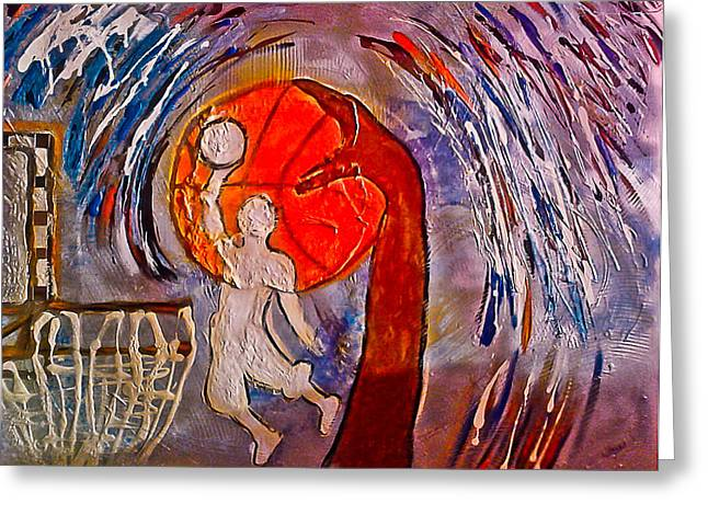 Creative People Mixed Media Greeting Cards - For the love of Basketball Greeting Card by Artista Elisabet