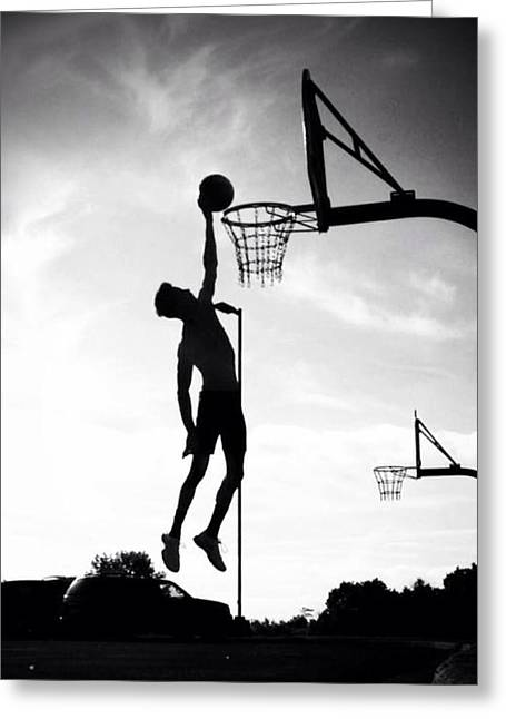Best Sellers -  - Dr. J Greeting Cards - For The Love of Basketball  Greeting Card by Lisa Piper Menkin Stegeman