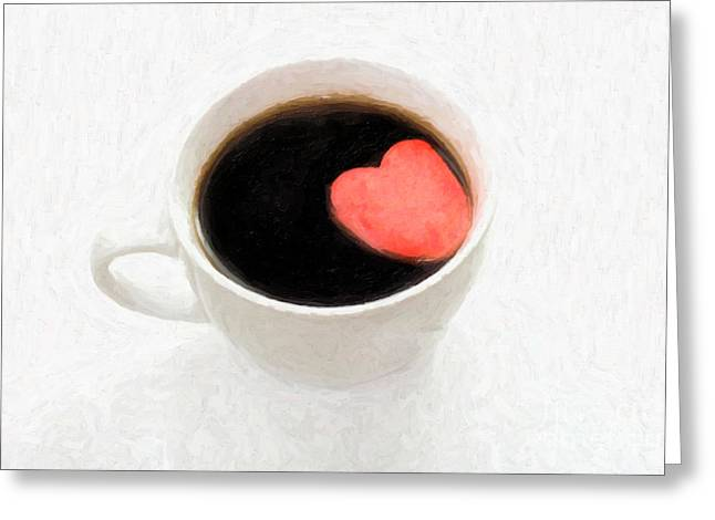 Linda Matlow Greeting Cards - For the Love of Coffee Greeting Card by Linda Matlow