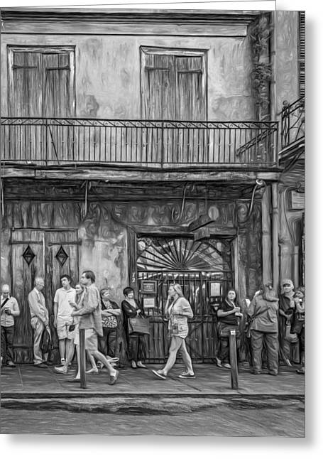 For The Love Of Jazz - Paint Bw Greeting Card by Steve Harrington