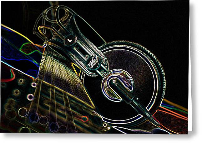 Headphones Greeting Cards - For The Love Of Music 2 Greeting Card by Marvin Blaine