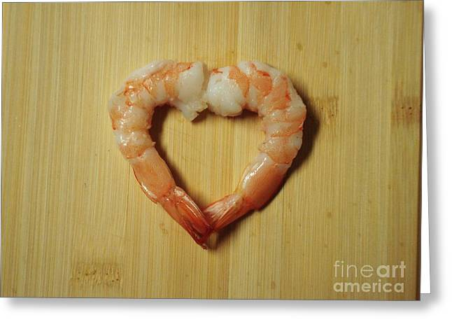 Metal Fish Art Photography Greeting Cards - For the Love of Shrimp Greeting Card by J L Zarek