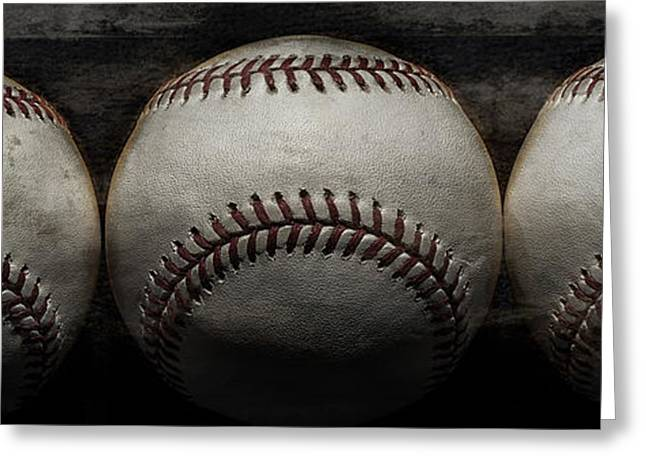 Baseball Bat Greeting Cards - For the love of the game Greeting Card by Tim Palmer
