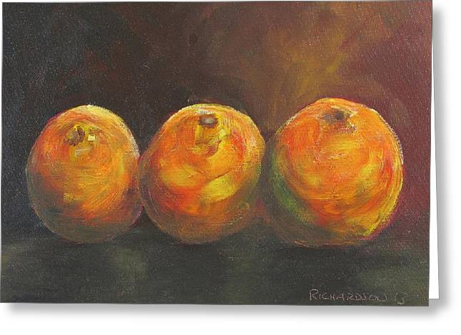 For The Love Of Three Oranges Greeting Card by Susan Richardson