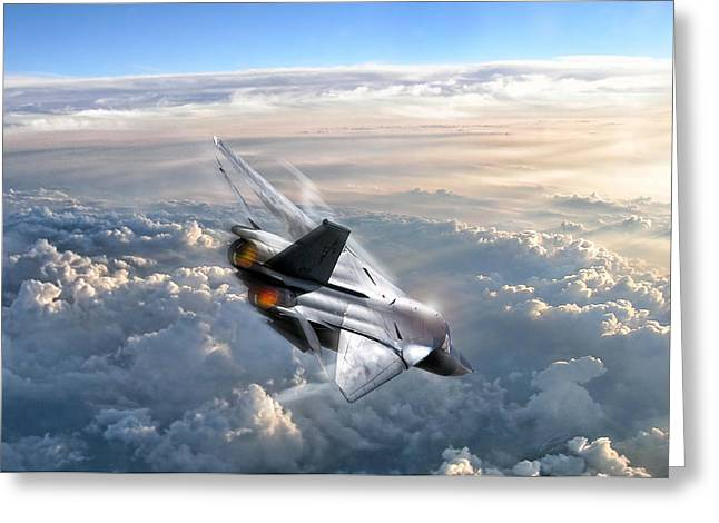 Interceptor Greeting Cards - For Those About To Rock Greeting Card by Peter Chilelli