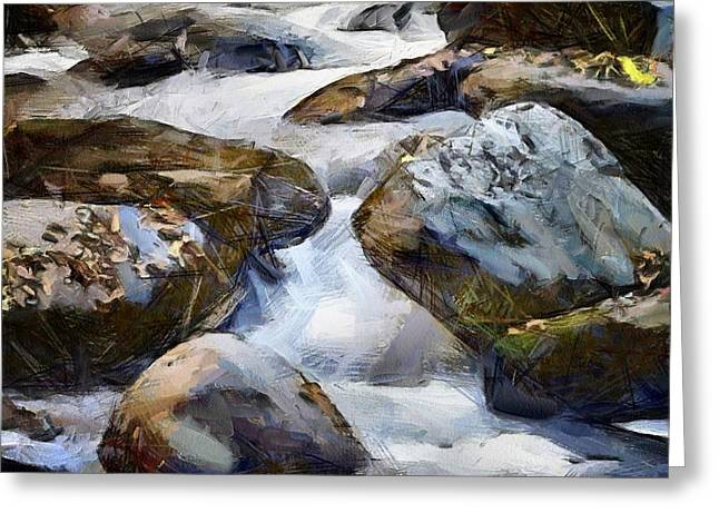 Stream Digital Art Greeting Cards - For warm feet on a hot day Greeting Card by Gun Legler