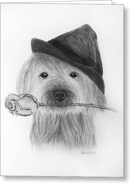 Custom Pet Drawing Greeting Cards - For you Greeting Card by Agnieszkaa Dzida