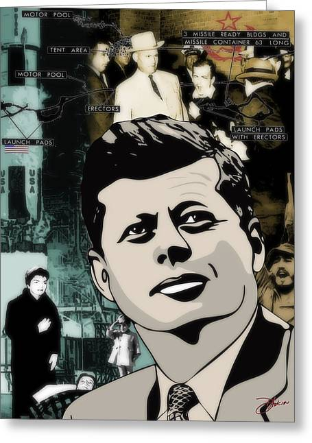 4th July Digital Art Greeting Cards - For Your Country John F. Kennedy Greeting Card by Dancin Artworks