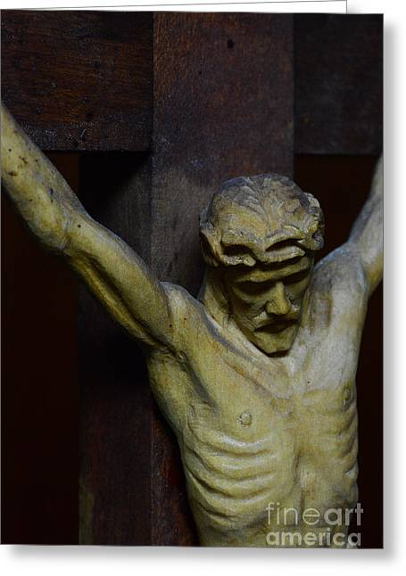Catholic Art Greeting Cards - For Your Sins Greeting Card by Paul Ward