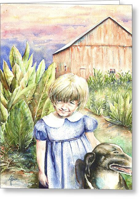 Forbes Road Farm Greeting Card by Arthur Fix
