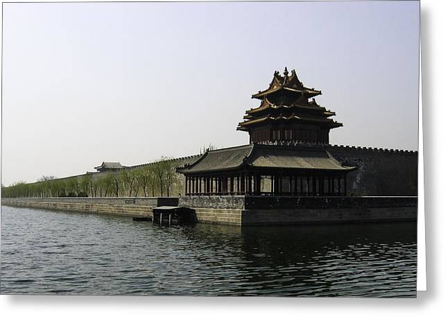 Yun Qing Fu Greeting Cards - Forbidden City Corner  Greeting Card by Qing
