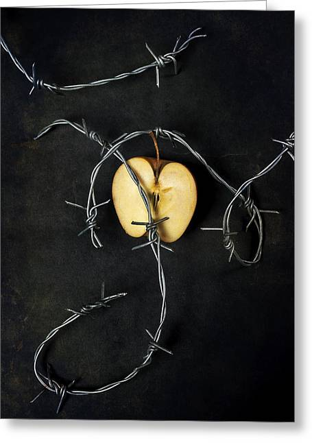 Violence Greeting Cards - Forbidden Fruit Greeting Card by Joana Kruse