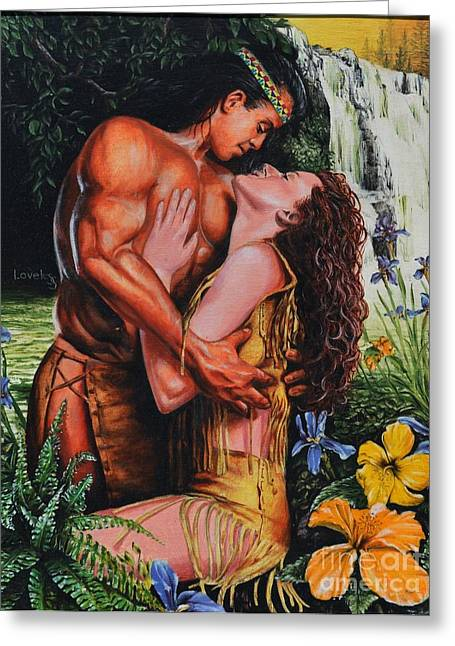 Embrace Greeting Cards - Forbidden Romance Greeting Card by James Loveless