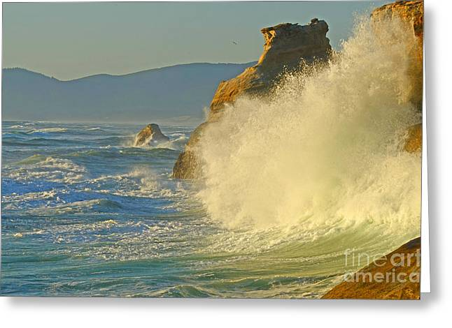 Pacificnorthwest Greeting Cards - Force Of Nature Greeting Card by Nick  Boren