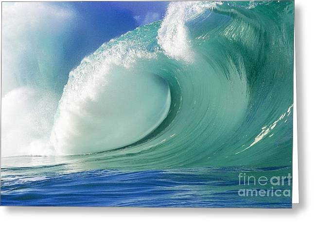 Recently Sold -  - Surfing Art Greeting Cards - Force of Nature Greeting Card by Paul Topp
