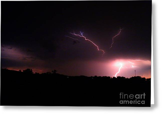 Lightning Bolt Pictures Greeting Cards - Forces of Nature 1 Greeting Card by Amy Stuart Langlo