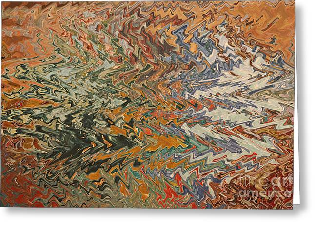 Carol Groenen Abstracts Greeting Cards - Forces of Nature - Abstract Art Greeting Card by Carol Groenen