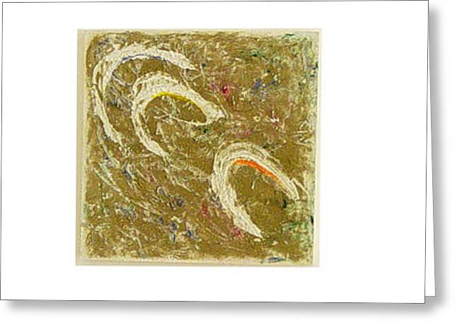 Color Green Sculptures Greeting Cards - Forces of nature Greeting Card by Neda Laketic
