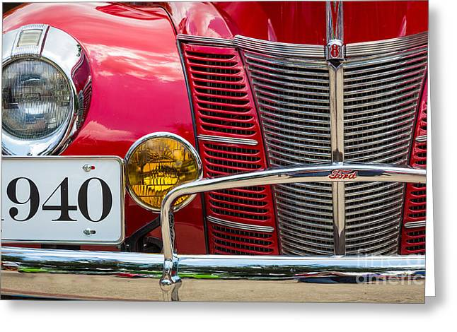 Headlight Greeting Cards - Ford 01A DeLuxe Coupe Greeting Card by Inge Johnsson