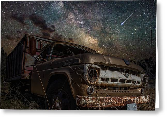 Meteors Greeting Cards - Ford Greeting Card by Aaron J Groen