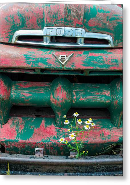 Overgrown Greeting Cards - Ford Greeting Card by Aaron Spong
