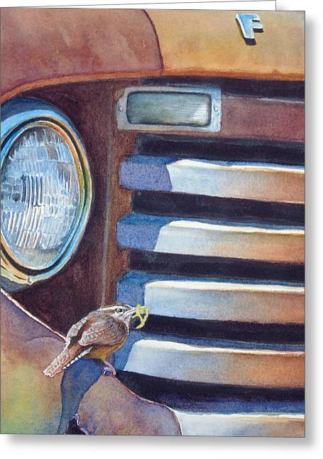 Old Trucks Greeting Cards - Ford and Wren Greeting Card by Greg Halom