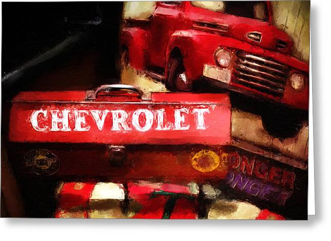 Ford Chevrolet Greeting Card by Robert Smith