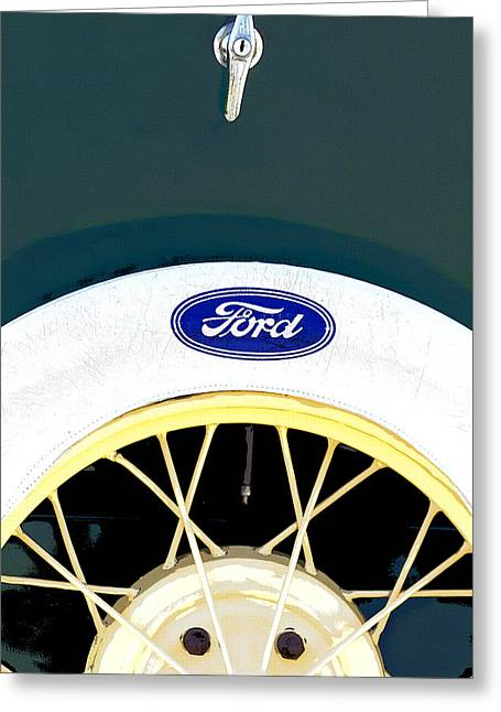 Decor Collection Greeting Cards - Ford Classic Model A Greeting Card by Elena Nosyreva