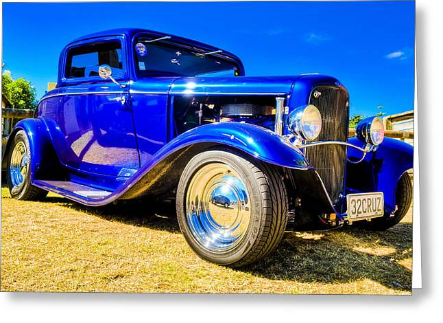 Phil Motography Clark Photographs Greeting Cards - Ford Coupe Hot Rod Greeting Card by motography aka Phil Clark