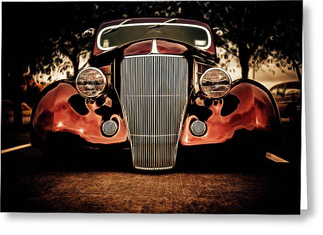 Ford Hotrod Greeting Cards - Ford Coupe Hotrod Greeting Card by motography aka Phil Clark
