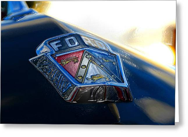 Blue Ford Greeting Cards - Ford Crest Greeting Card by David Lee Thompson