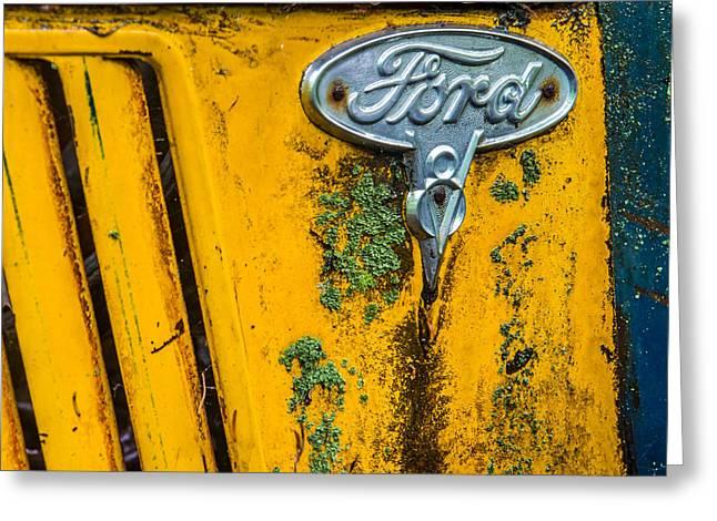 Lichen Image Greeting Cards - Ford Emblem Greeting Card by Paul Freidlund