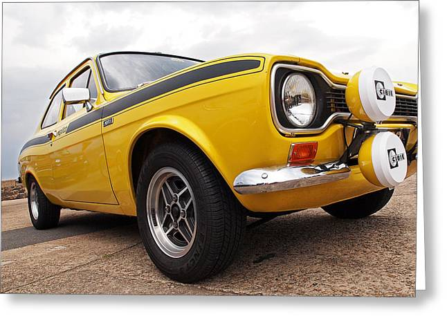 Rally Greeting Cards - Ford Escort Mexico Rally Car Greeting Card by Gill Billington