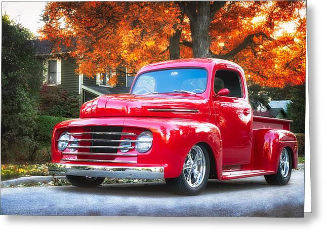 Custom Ford Greeting Cards - Ford F-1  Greeting Card by Malgorzata Dariusz Szupina