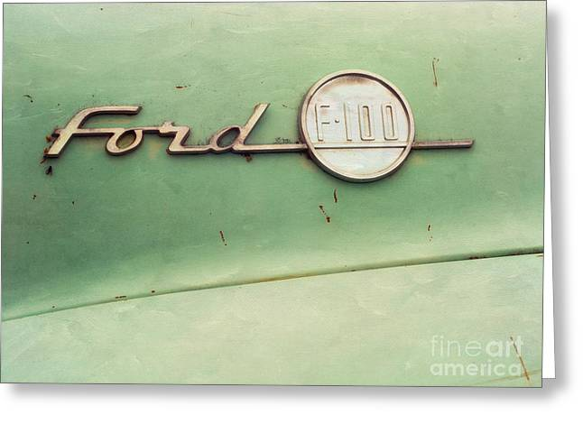 Oldtimer Greeting Cards - Ford F-100 Greeting Card by Priska Wettstein