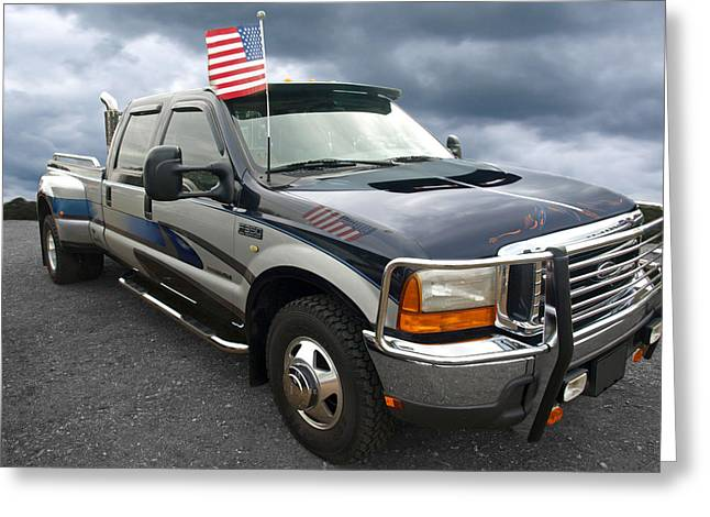 Classic Pickup Photographs Greeting Cards - Ford F350 Super Duty Truck Greeting Card by Gill Billington