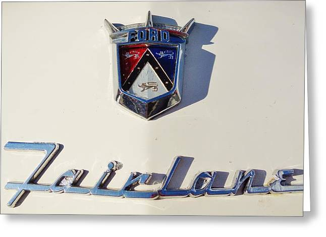 Ford Sprints Greeting Cards - Ford Fairlane Greeting Card by Mark Lemmon