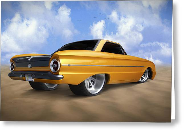 Ford Street Rod Greeting Cards - Ford Falcon Greeting Card by Mike McGlothlen