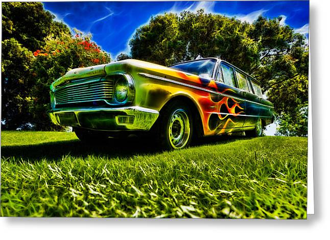 Aotearoa Greeting Cards - Ford Falcon Station Wagon Greeting Card by motography aka Phil Clark
