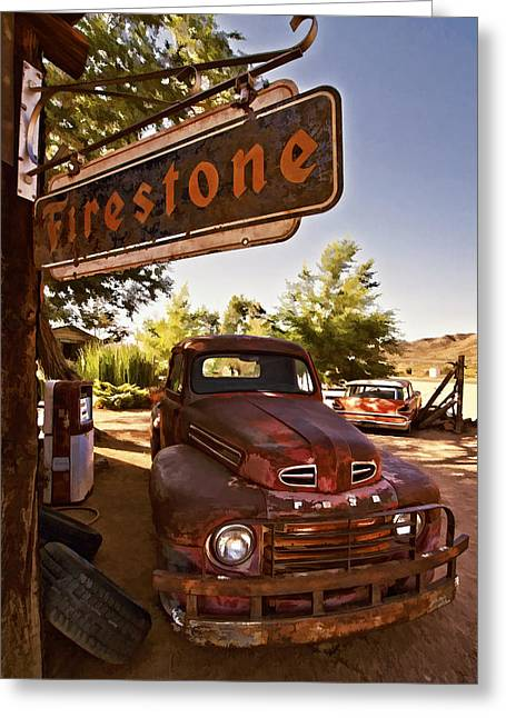 Grocery Store Greeting Cards - Ford Fever Greeting Card by Priscilla Burgers