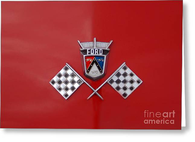 Car Part Greeting Cards - Ford Finish Greeting Card by Skip Willits