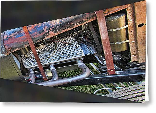 Ron Roberts Photography Photographs Greeting Cards - Ford Flat Head V8 Greeting Card by Ron Roberts