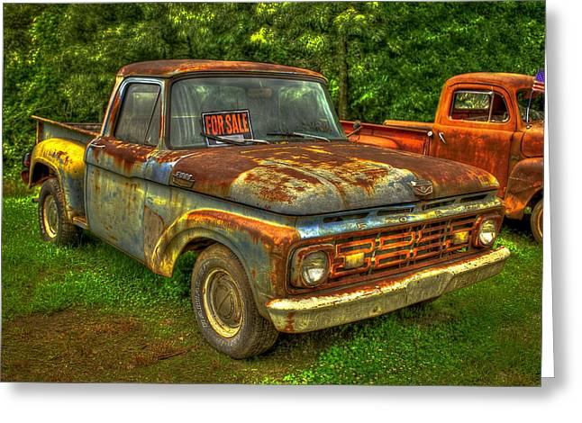 Chevrolet Pickup Truck Greeting Cards - 1962 Ford Pickup Truck F Series Fourth Generation  Greeting Card by Reid Callaway
