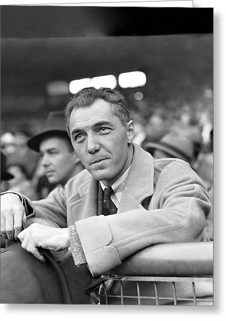 Baseball Uniform Greeting Cards - Ford Frick Greeting Card by Retro Images Archive