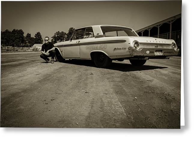 Oldies Greeting Cards - Ford Galaxie 500 5 Greeting Card by Thomas Young