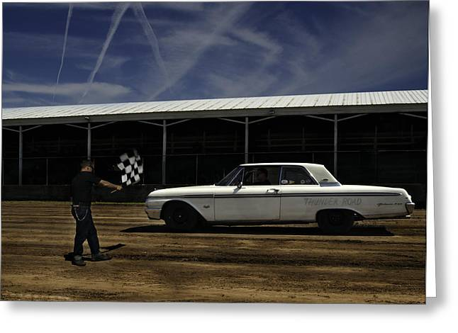 Oldies Greeting Cards - Ford Galaxie 500 6 Greeting Card by Thomas Young